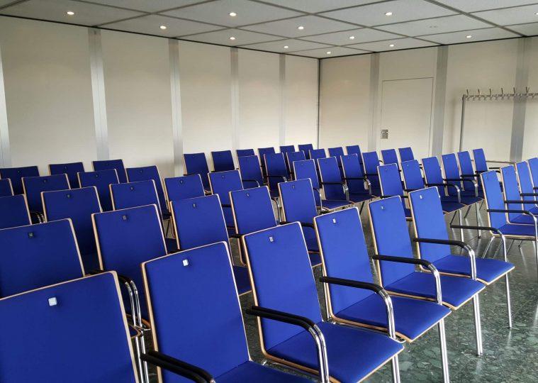 Konferenzraum 3 in der Congresshalle in Reihenbestuhlung