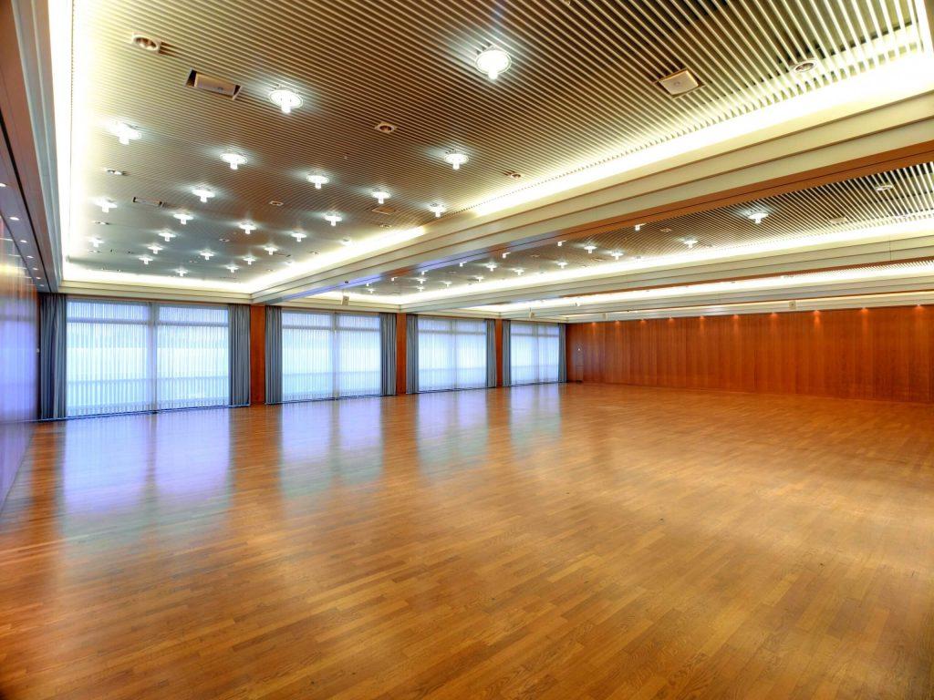 Saal 7 in der Saarlandhalle unbestuhlt