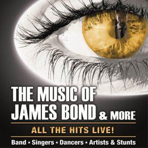 Plakatlayout quadratisch The Music of James Bond